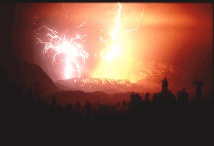 Volcanic Blast Causes Lightning Of Traffic